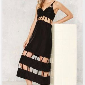Lee + Lani   Black Caged Dress In Black